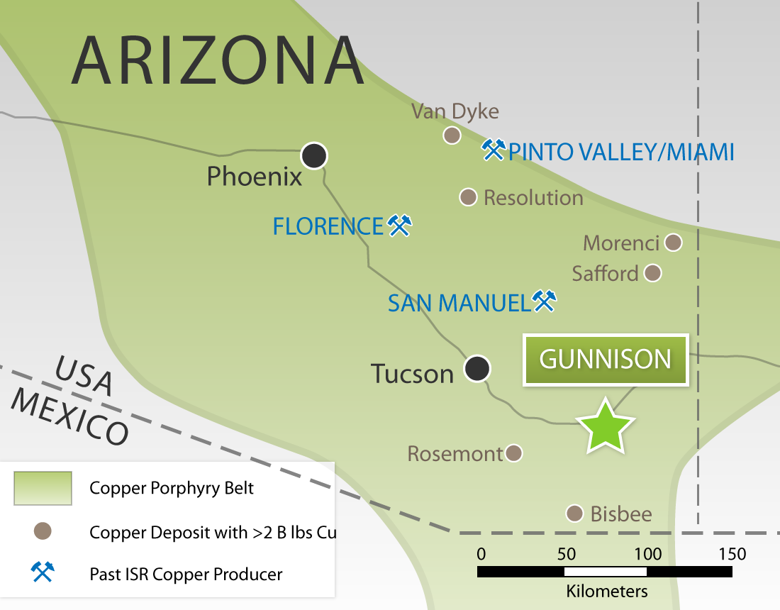 Map Of Arizona Mines.Excelsior Mining Corp Project
